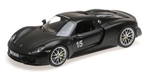 Porsche 918 spyder 2013 matt black