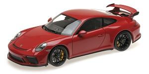 Porsche 911 GT3 2017 red w/ black wheels