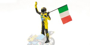 Figurine V. Rossi riding GP125 1996