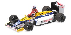 Williams Honda FW11 K. Rosberg riding on