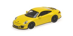 Porsche 911R 2016 yellow w/ black wheels