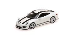 Porsche 911R 2016 white w/ black stripes